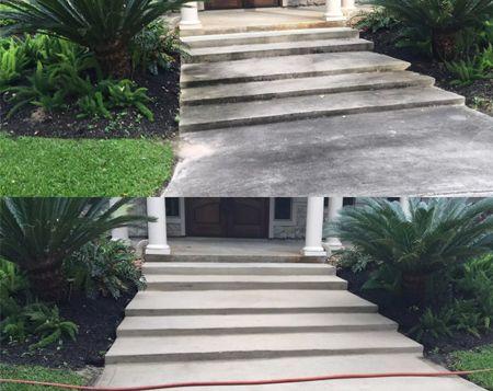 HD POWERCLEAN - Treppenaufgang vorher nachher Reinigung