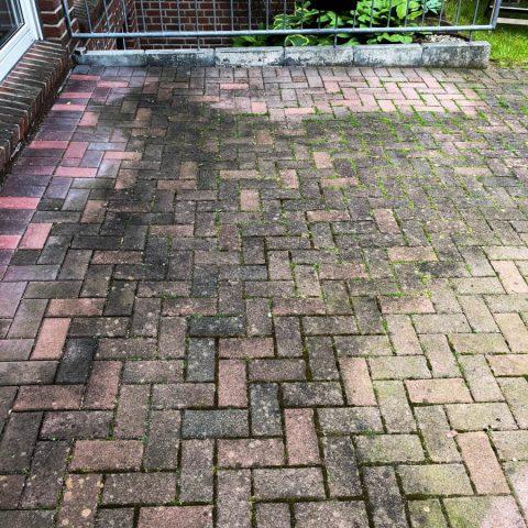HD POWERCLEAN - verdreckte Terrasse vor Reinigung